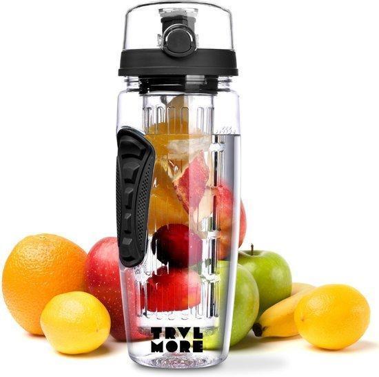 Super Gezonde Drankjes: Waterfles met Fruitfilter de nieuwe standaard in &QF83