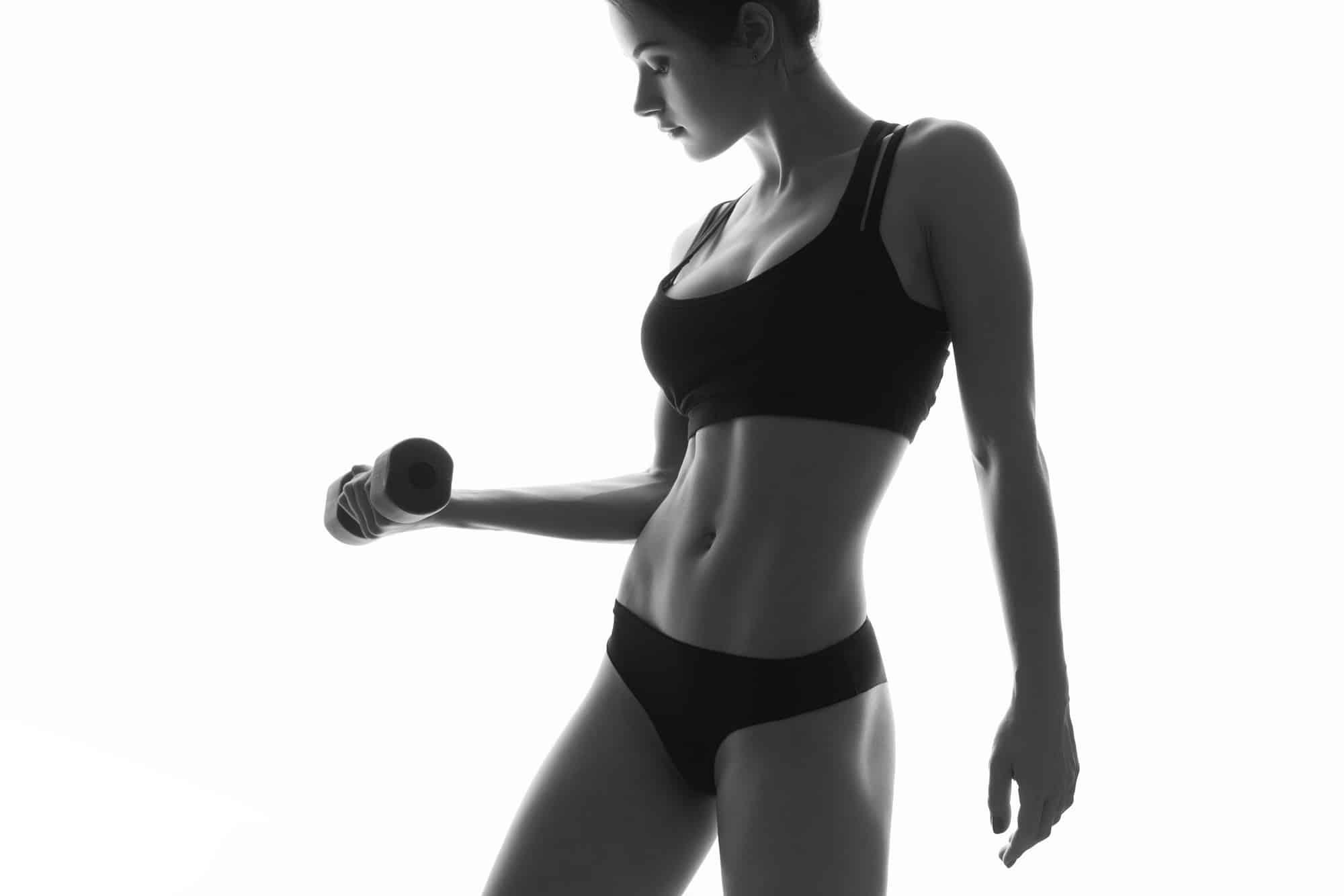 vrouw lichaam spier doel